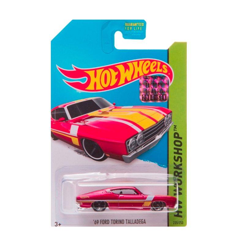 HotWheels Factory Sealed 69 Ford Torino Talladega Red Diecast