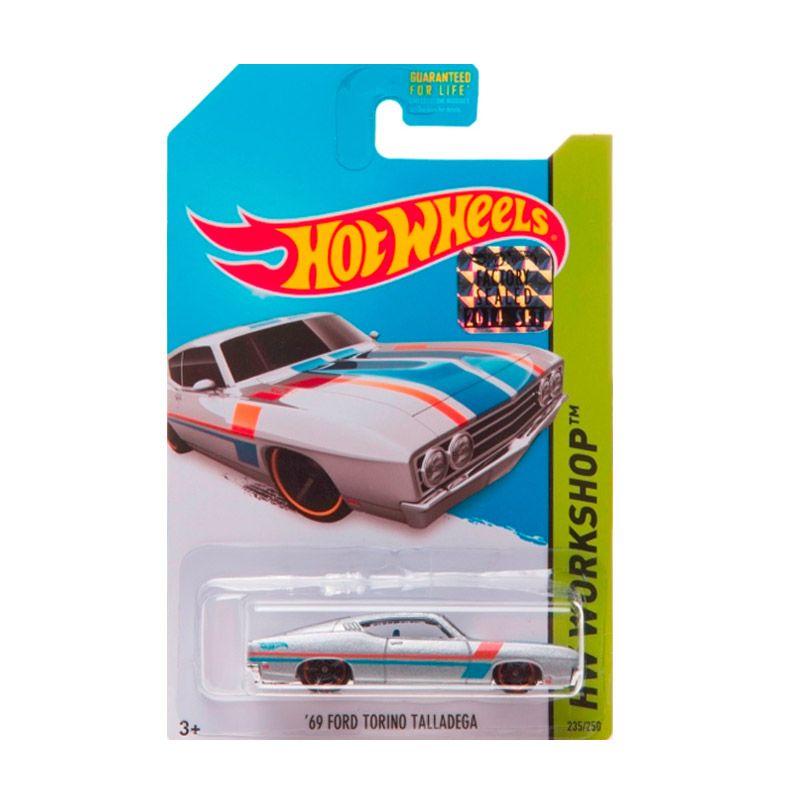 HotWheels Factory Sealed 69 Ford Torino Talladega Silver Diecast