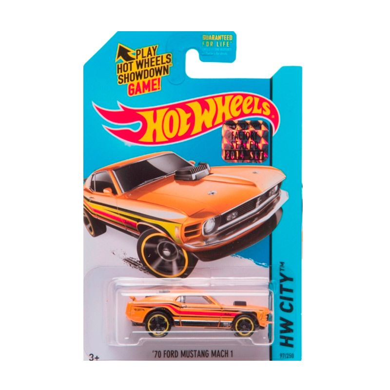 Hotwheels Factory Sealed 70 Ford Mustang Mach 1 Yellow Diecast
