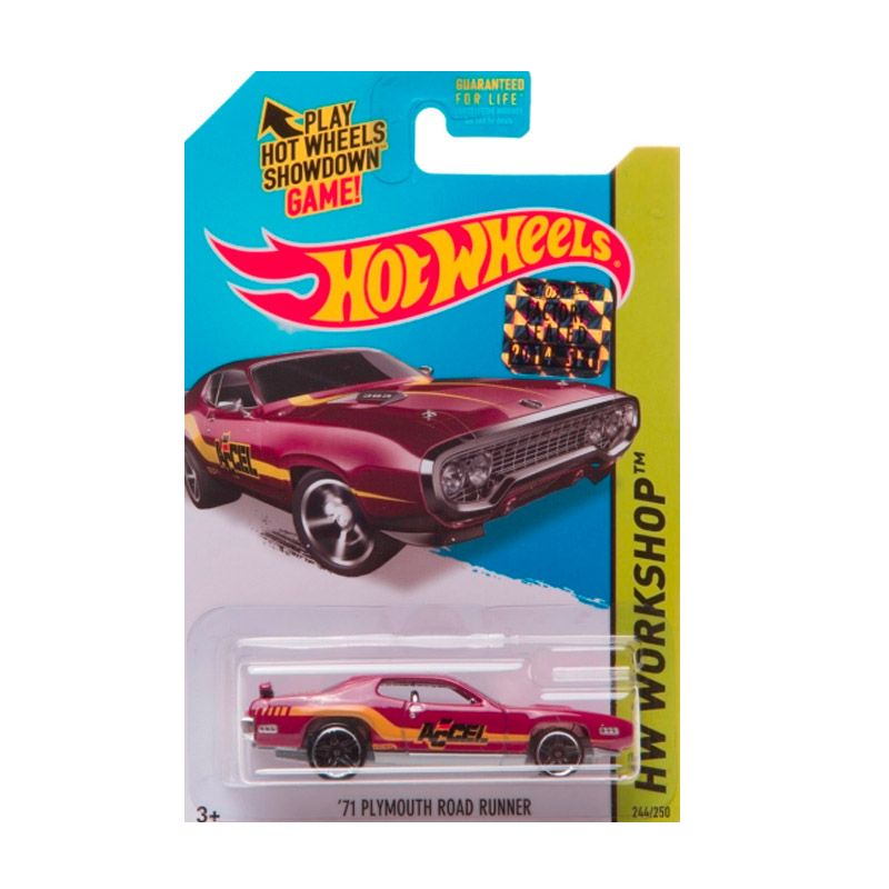 Hotwheels Factory Sealed 71 Plymouth Road Runner Dark Red Diecast