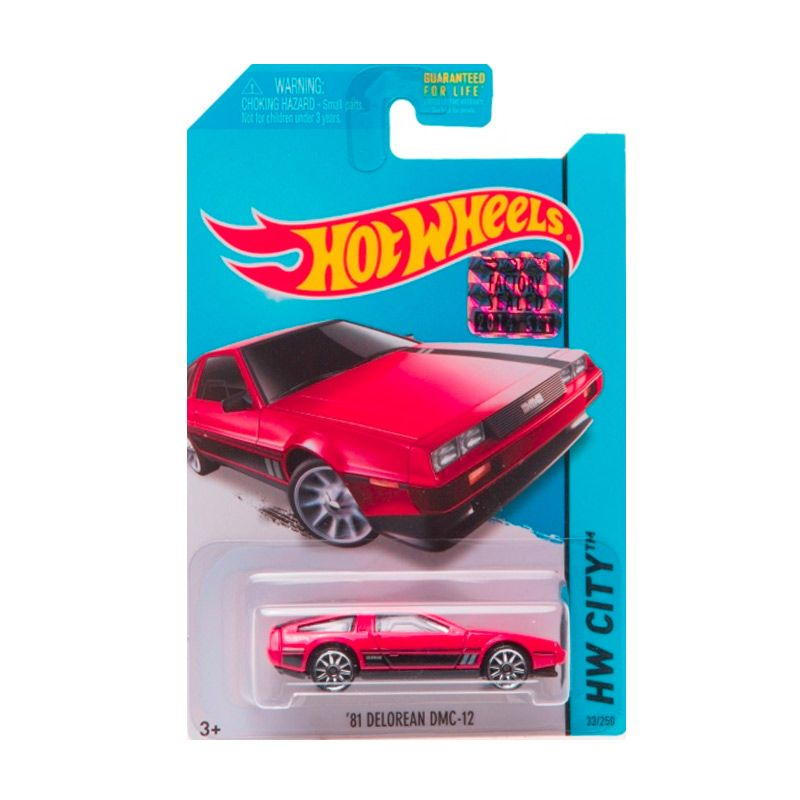 HotWheels Factory Sealed 81 Delorean DMC-12 Red Diecast