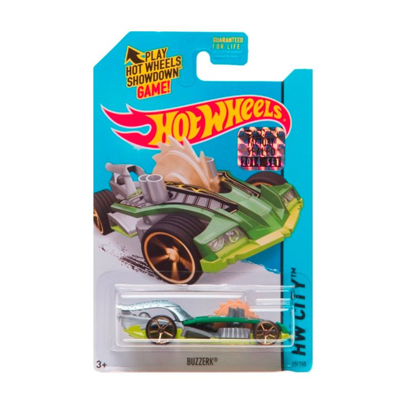 Hotwheels Factory Sealed Buzzerk Green Diecast