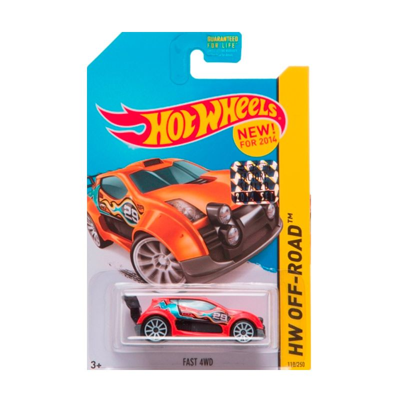 Hotwheels Factory Sealed Fast 4WD Orange Diecast