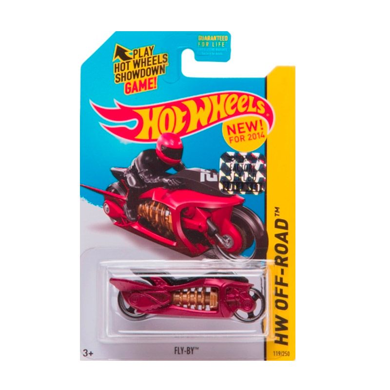 Hotwheels Factory Sealed Fly-By Red Black Diecast