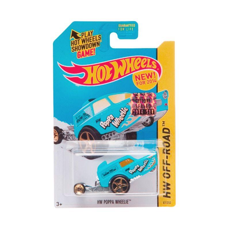 Hotwheels Factory Sealed HW Poppa Wheelie Blue Diecast