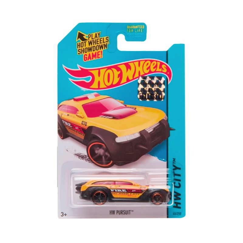 Hotwheels Factory Sealed HW Pursuit Yellow Diecast
