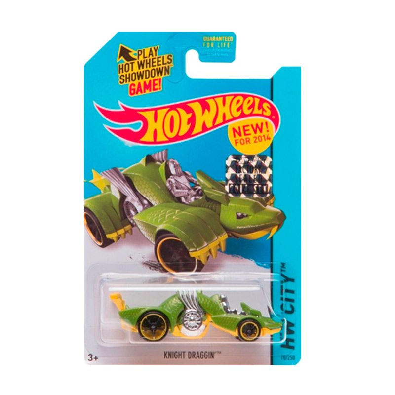 Hotwheels Factory Sealed Knight Draggin Green Diecast