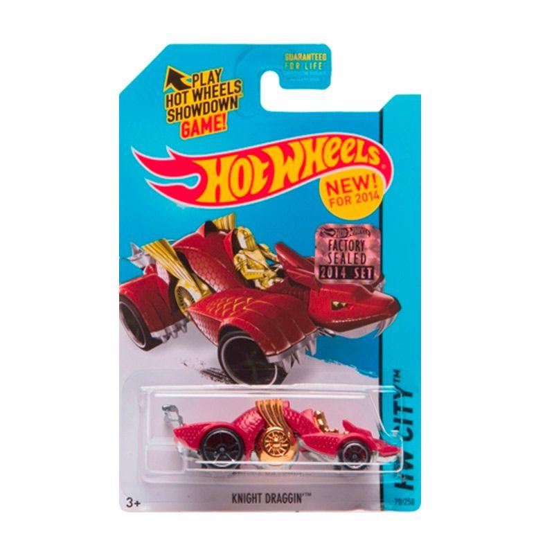 Hotwheels Factory Sealed Knight Draggin Red Diecast