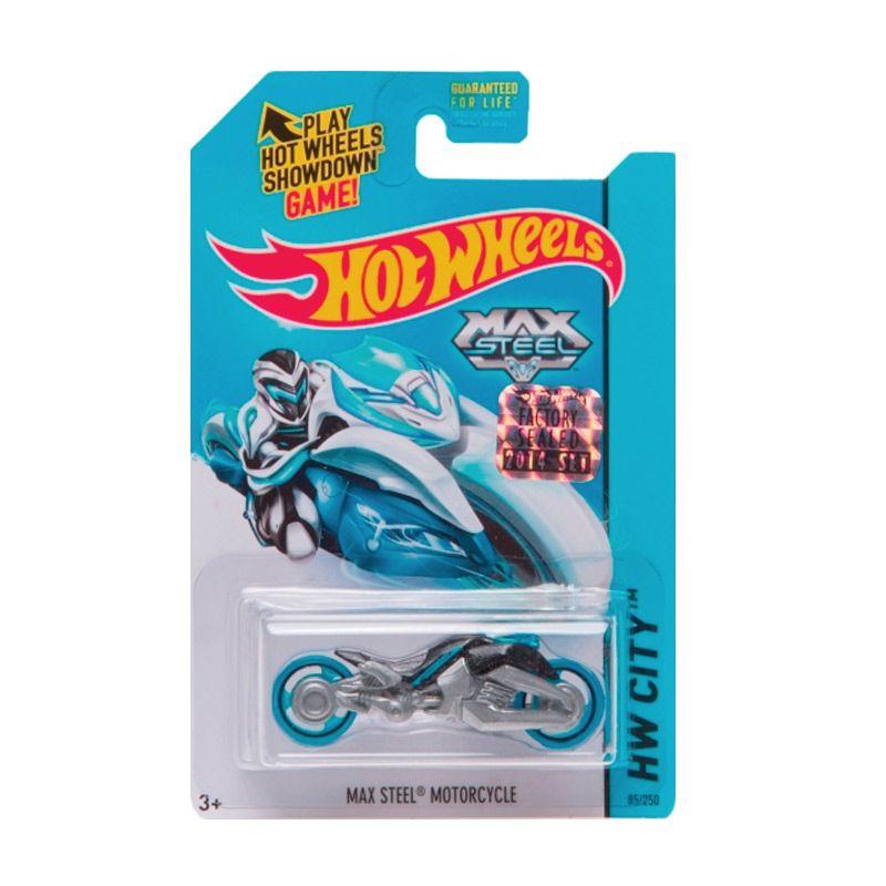 Hotwheels Factory Sealed Max Steel Motorcycle Blue Black Diecast