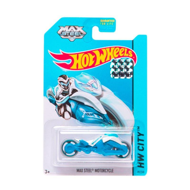 Hotwheels Factory Sealed Max Steel Motorcycle White Blue Diecast
