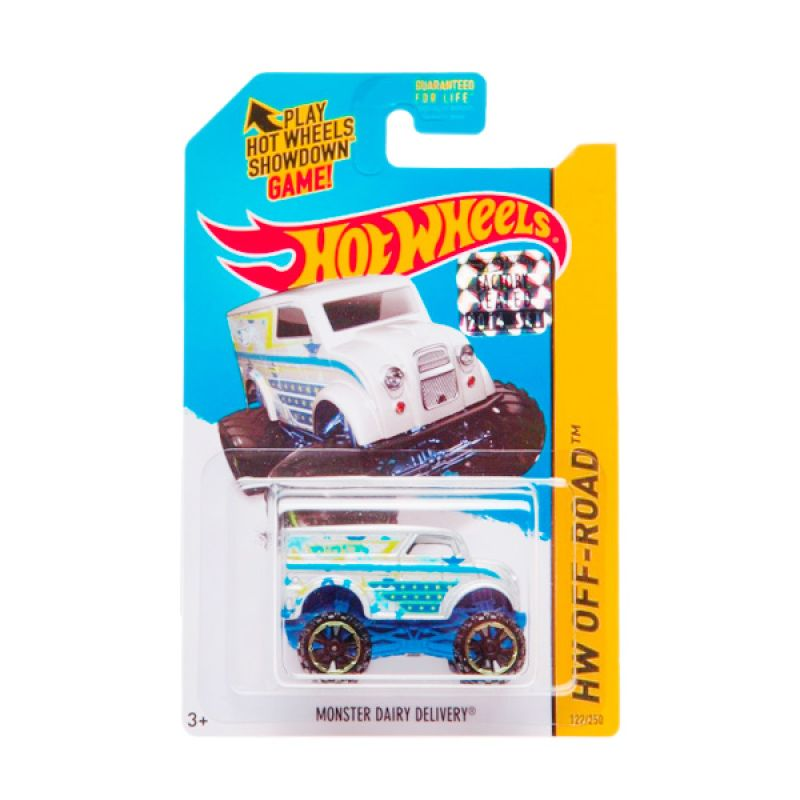 Hotwheels Factory Sealed MonsterDairy Delivery Silver Blue Diecast