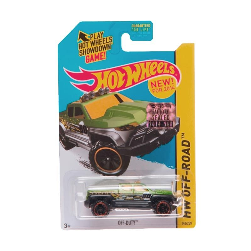 Hotwheels Factory Sealed Off Duty Green Diecast