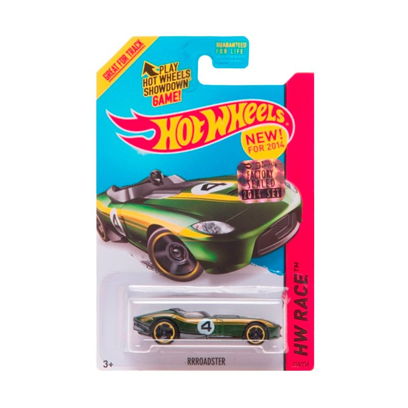 Hotwheels Factory Sealed Rrroadster Green Yellow Diecast