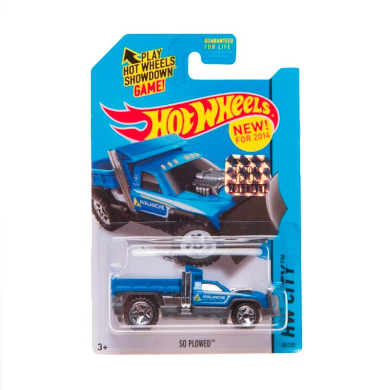 Hotwheels Factory Sealed So Plowed Blue Diecast