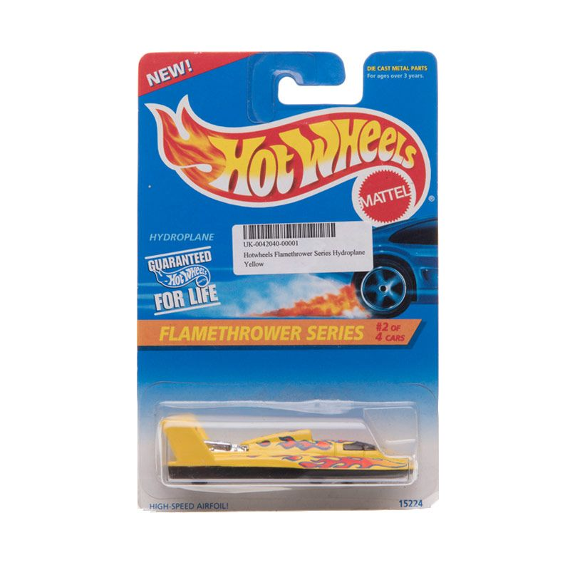Hotwheels Flamethrower Series Hydroplane Yellow Diecast