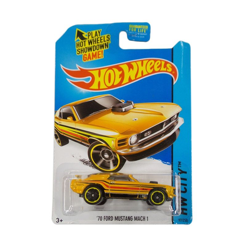 Hotwheels HW City 70 Ford Mustang Mach 1 Yellow Diecast