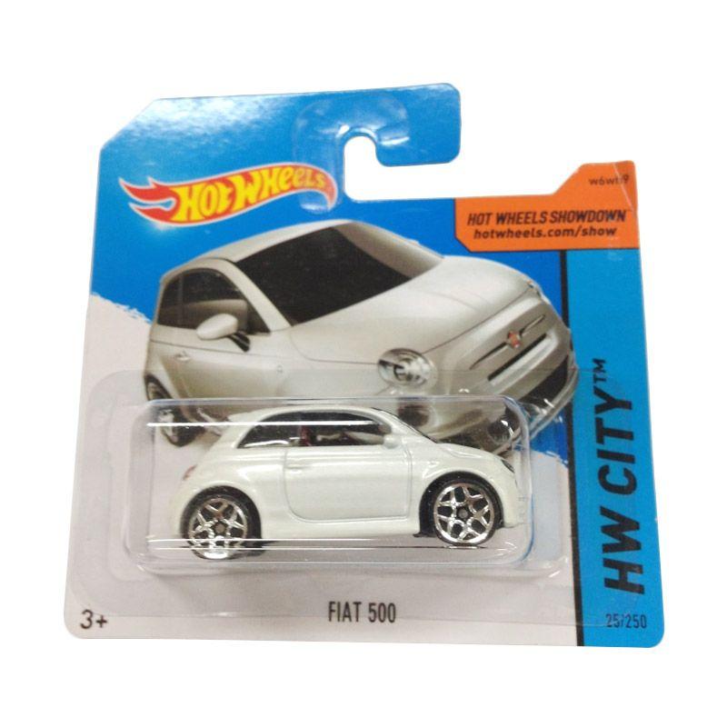 Hotwheels HW City Fiat 500 White Diecast