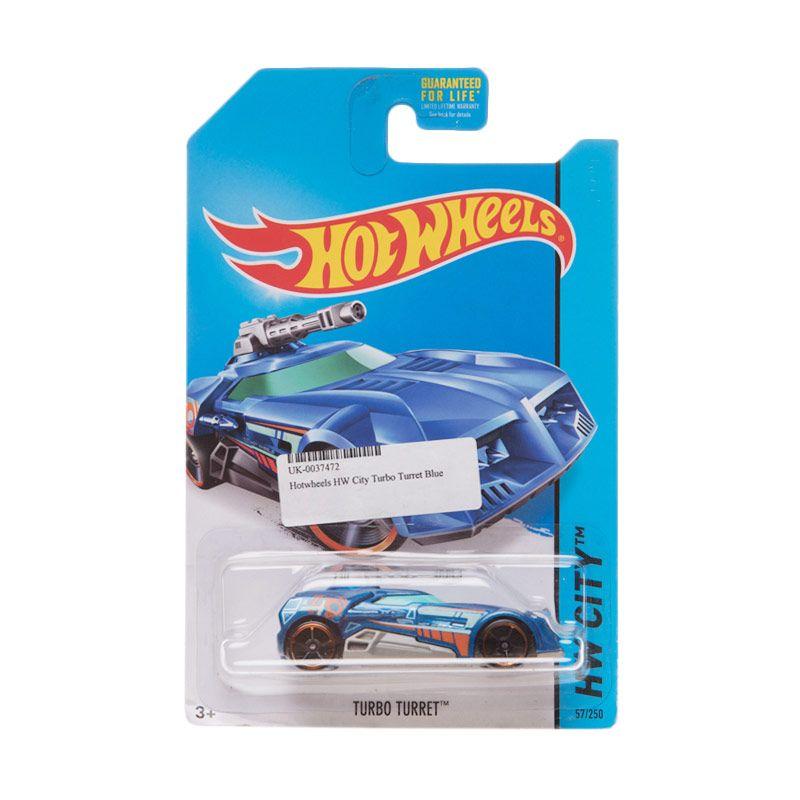 Hotwheels HW City Turbo Turret Blue Diecast