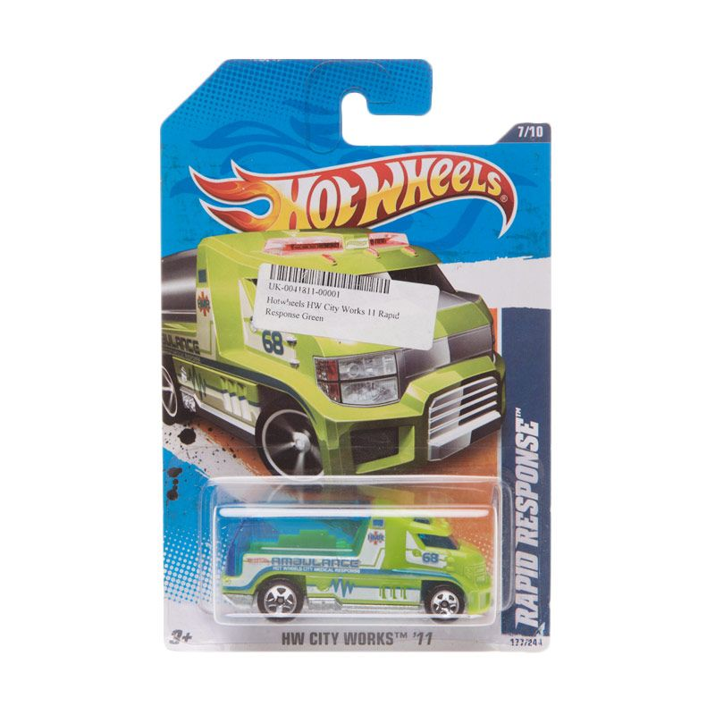 Hotwheels HW City Works 11 Rapid Response Green Diecast