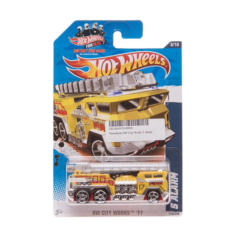 Hotwheels HW City Works 5 Alarm Yellow Diecast