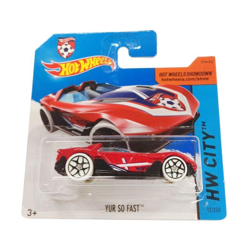 Hotwheels HW City Yur So Fast Red Diecast