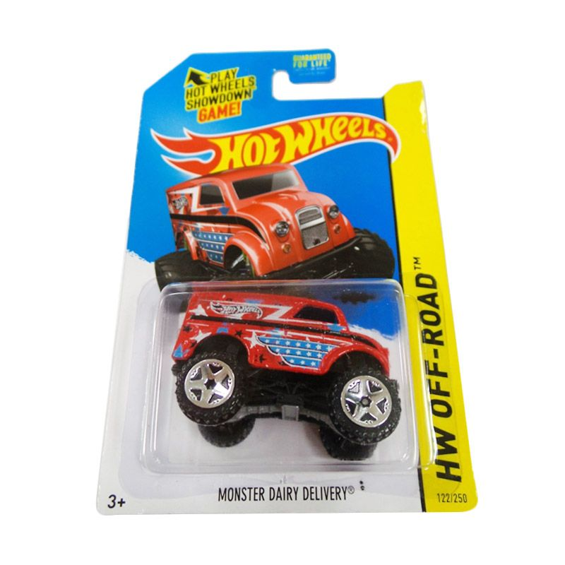 Hotwheels HW Off-Road Monster Dairy Delivery Red Diecast