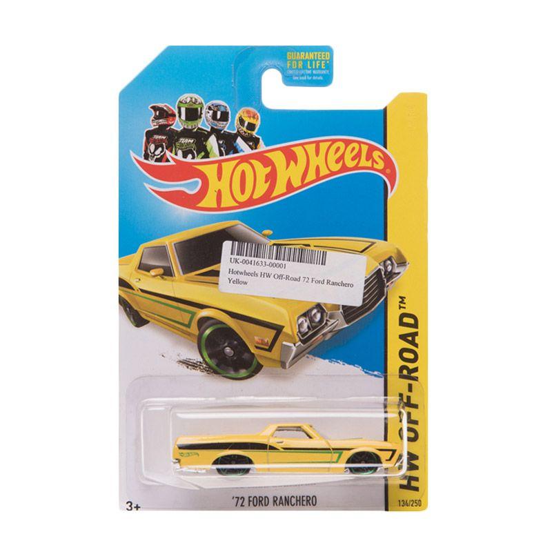 Hotwheels HW Off-Road 72 Ford Ranchero Yellow Diecast