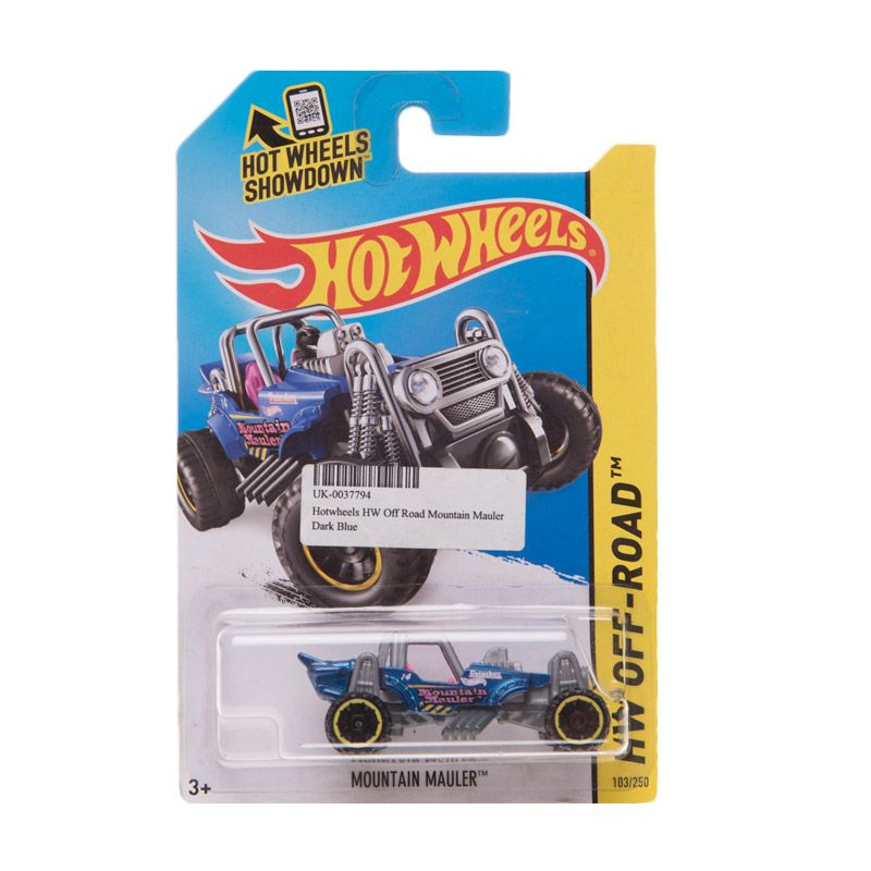 Hotwheels HW Off Road Mountain Mauler Dark Blue Diecast