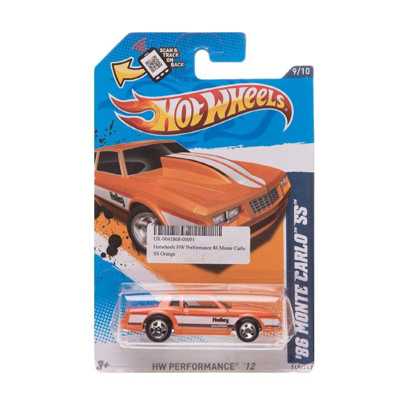 Hotwheels HW Performance 86 Monte Carlo SS Orange Diecast
