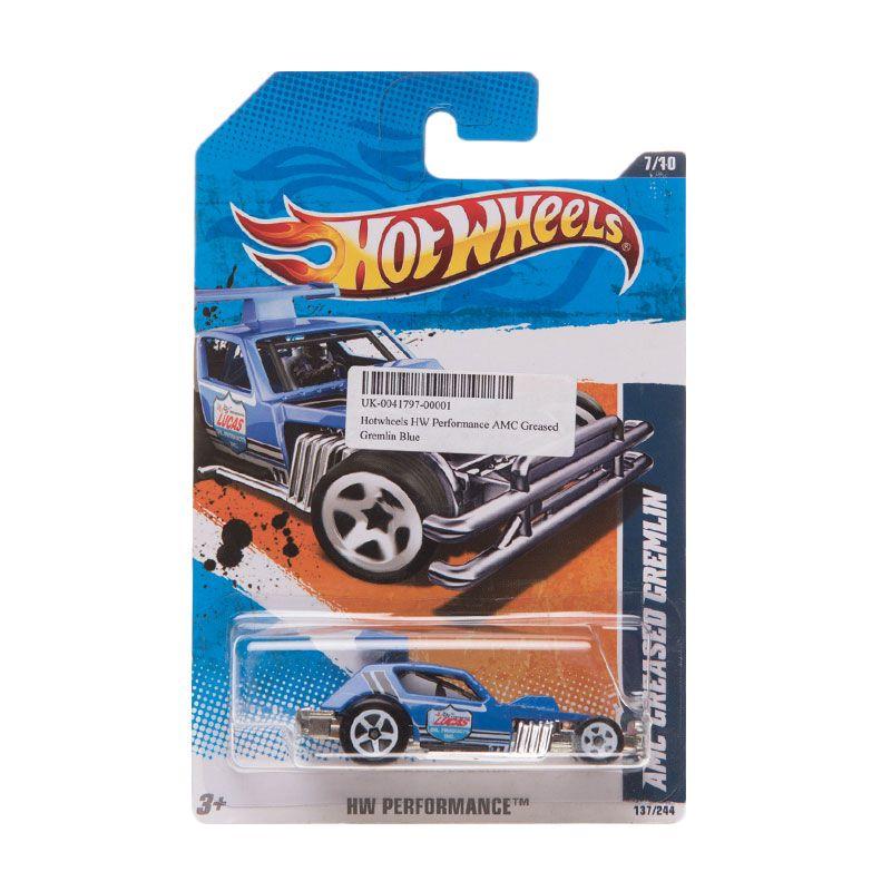 Hotwheels HW Performance AMC Greased Gremlin Blue Diecast