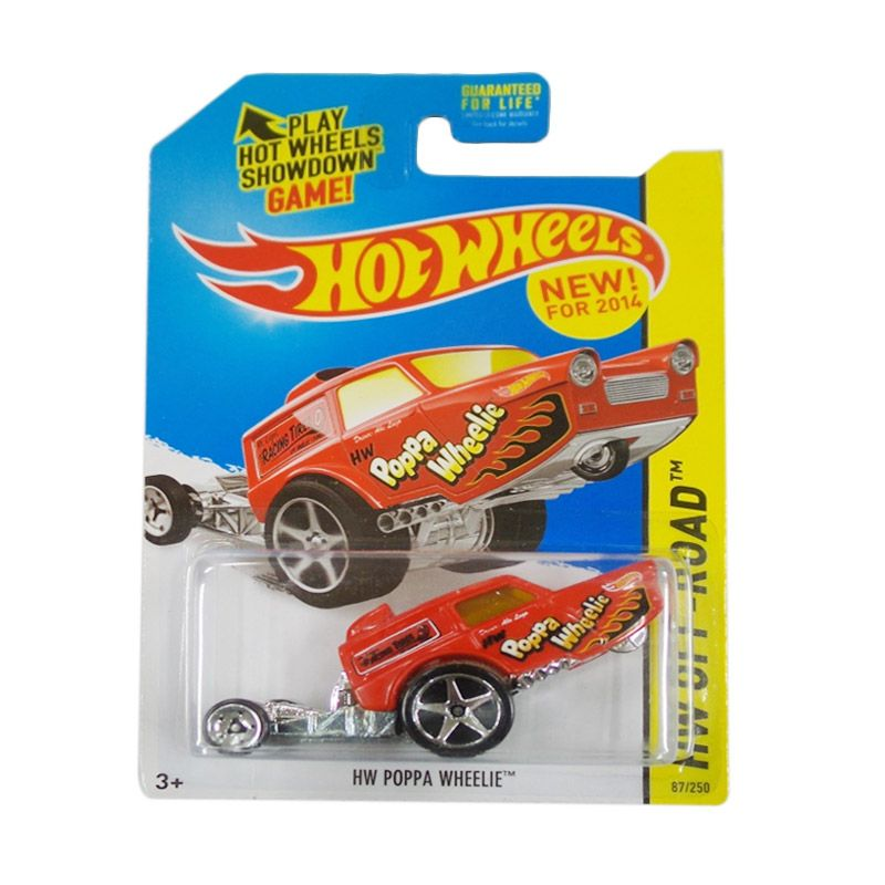 Hotwheels HW Off-Road HW Poppa Wheelie Red Diecast
