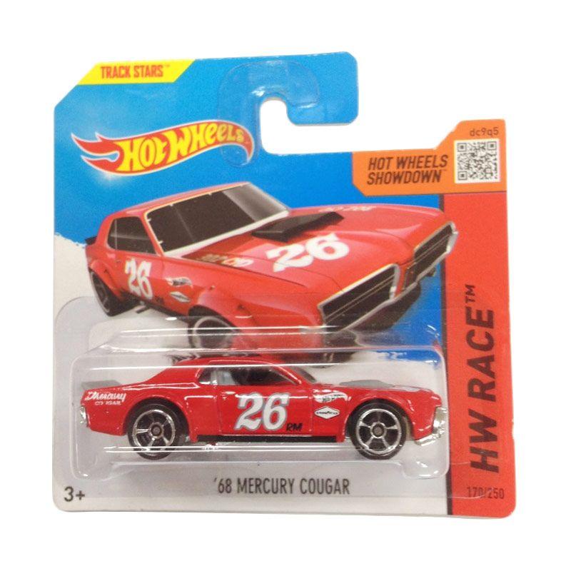 Hotwheels HW Race 68 Mercury Cougar Red Diecast