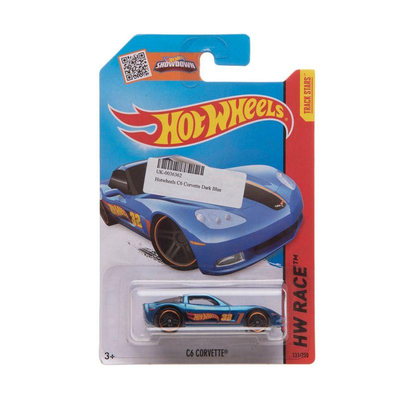 Hotwheels HW Race C6 Corvette Dark Blue Diecast