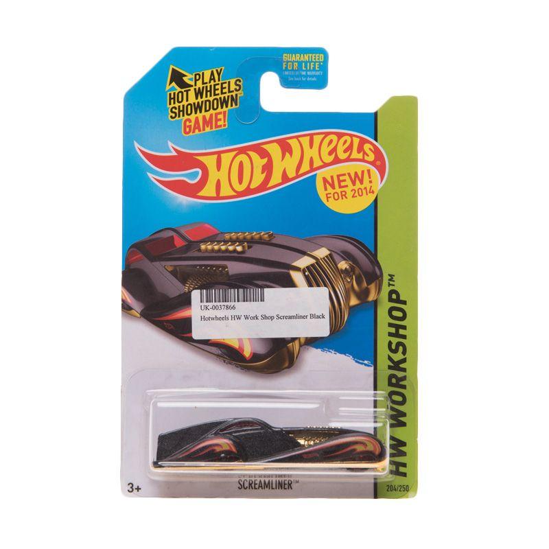 Hotwheels HW Work Shop Screamliner Black Diecast