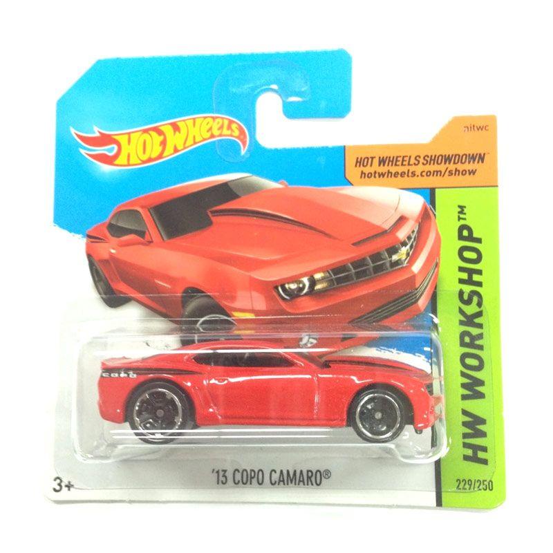Hotwheels HW Workshop 13 Copo Camaro Red Diecast