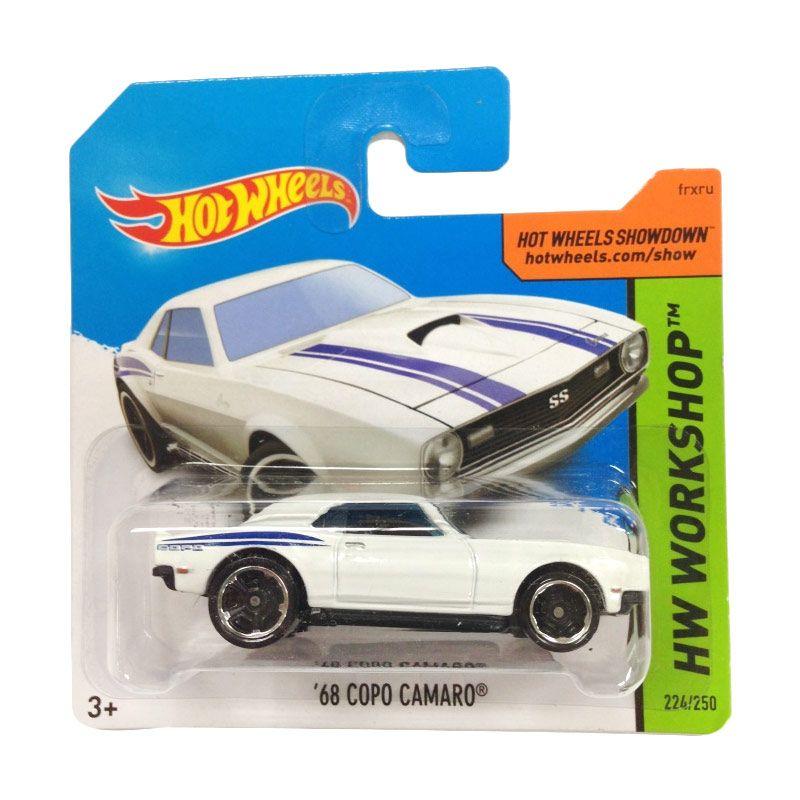 Hotwheels HW Workshop 68 Copo Camaro White Diecast