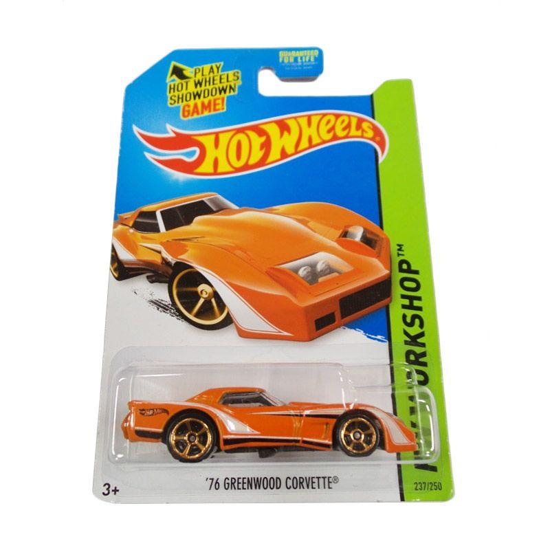 Hotwheels HW Workshop Greenwood Corvette Orange Diecast [1976]