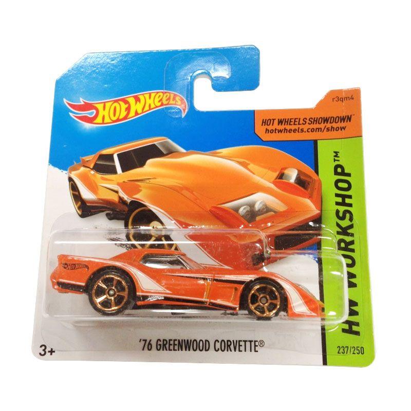Hotwheels HW Workshop 76 Greenwood Corvette Orange Diecast
