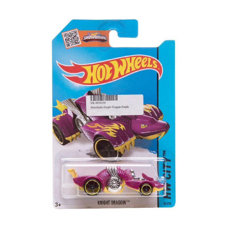 Hotwheels Knight Draggin Purple Diecast