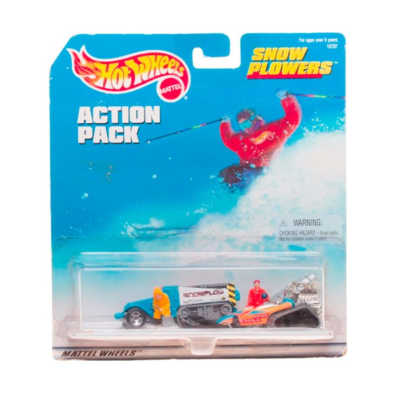 Hotwheels Mattel Action Pack Snow Plowers Diecast