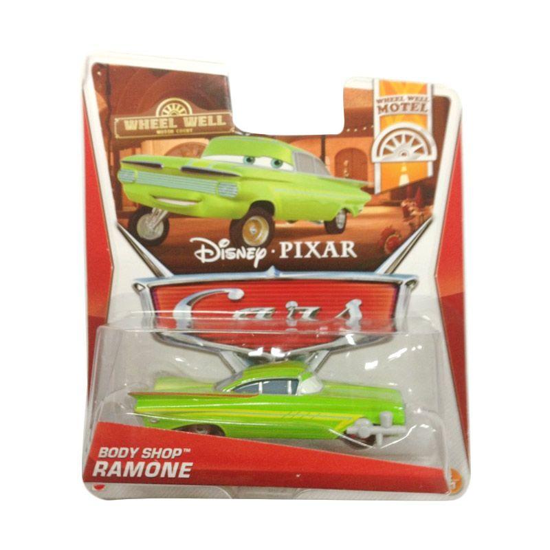 Hotwheels Pixar Cars Wheel Well Motel Body Shop Ramone Green Diecast