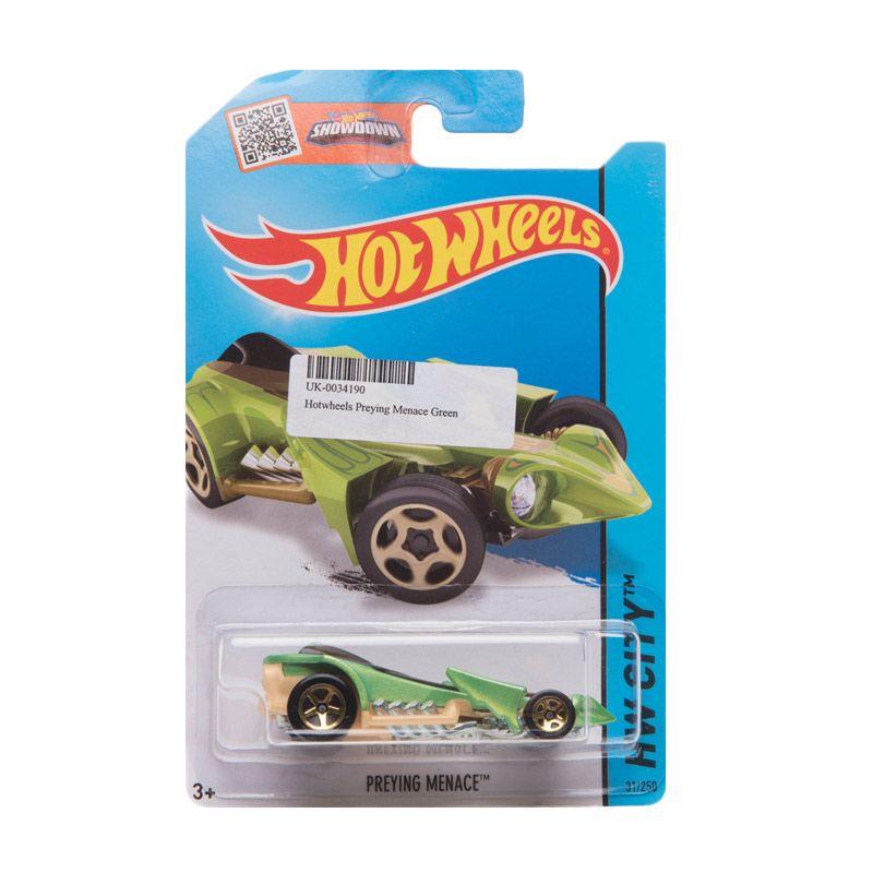 Hotwheels Preying Menace Green Diecast