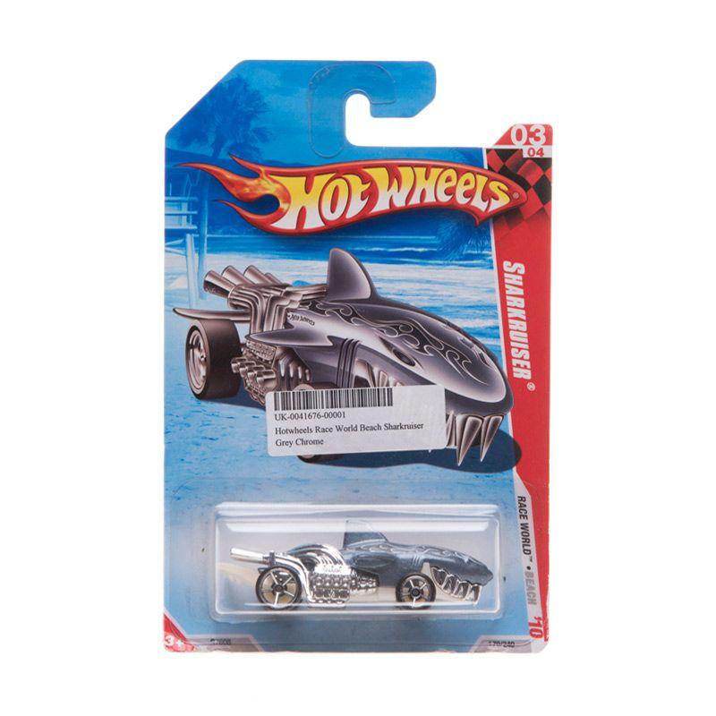 Hotwheels Race World Beach Sharkruiser Grey Chrome Diecast