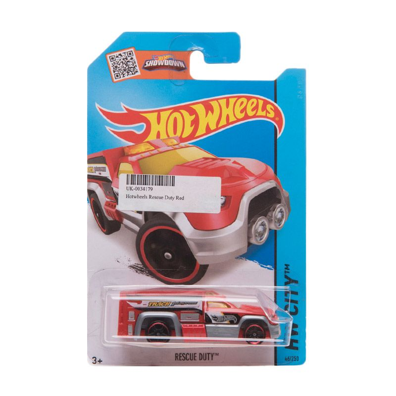 Hotwheels Rescue Duty Red Diecast