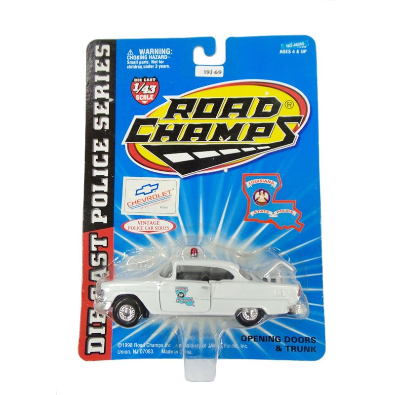 Hotwheels Road Champs Chevrolet Lousiana State Patrol Diecast [1:43]