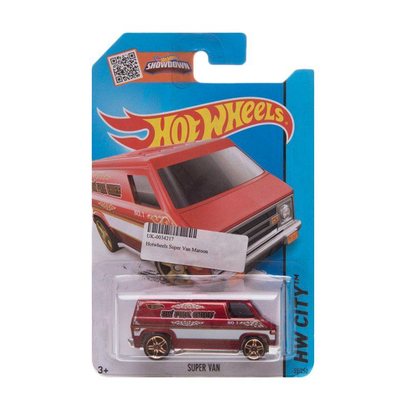 Hotwheels Super Van Maroon Diecast
