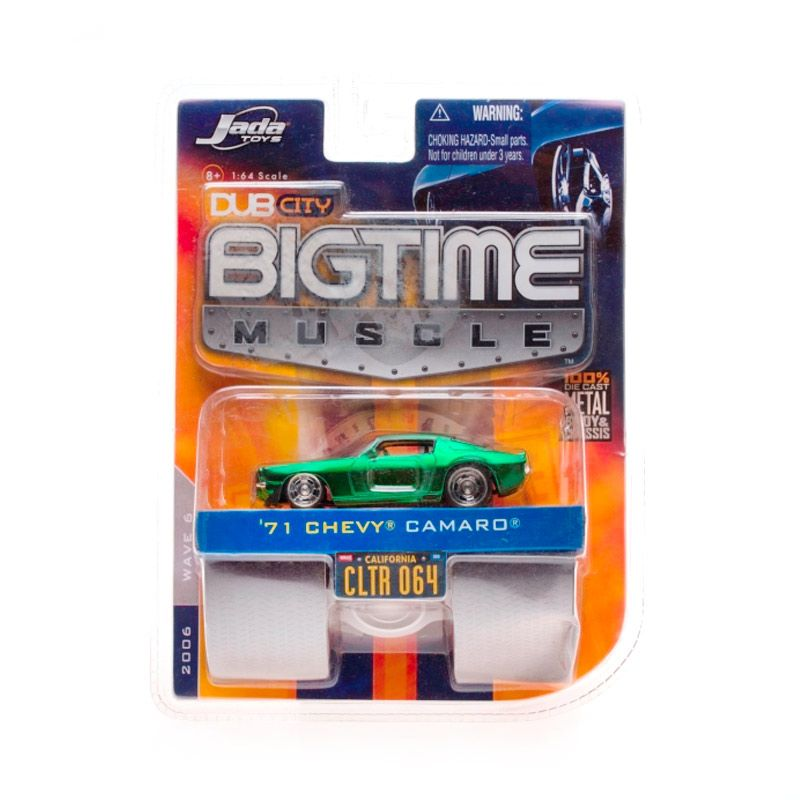 Jada Big Time Muscle 71 Chevy Camaro Green Diecast