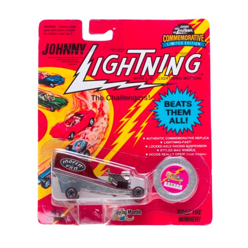 Johnny Lightning Commemorative Limited Edition Series C Movin Van Dark Red Diecast