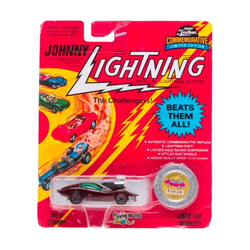 Johnny Lightning Commemorative Limited Edition Series E Vicious Vette Dark Red Diecast
