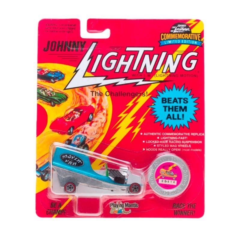 Johnny Lightning Commemorative Limited Edition Series F Movin Van Blue Diecast